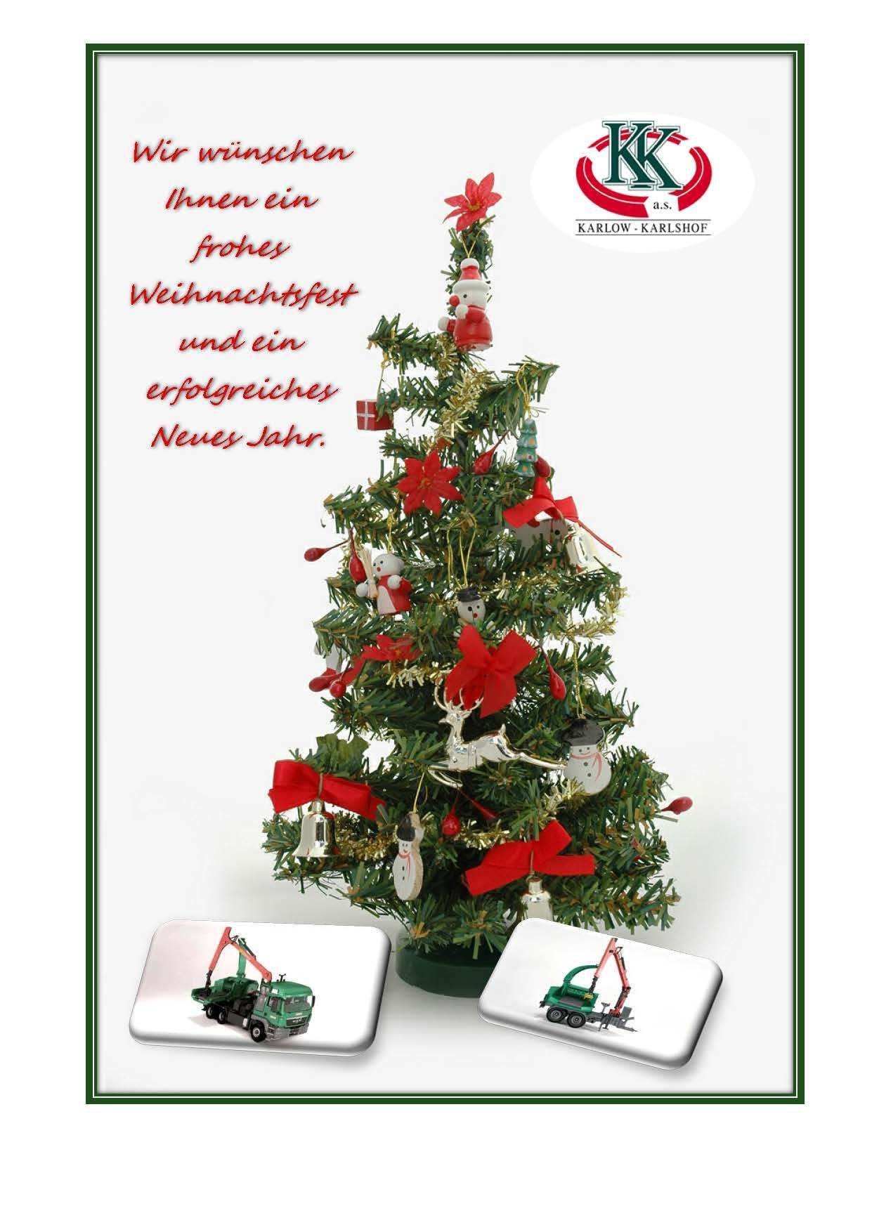 Weihnachtswunsch der Gesellschaft - karlowkarlshof